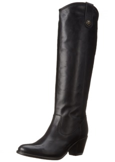 FRYE Women's Jackie Button Boot Black Wide Calf