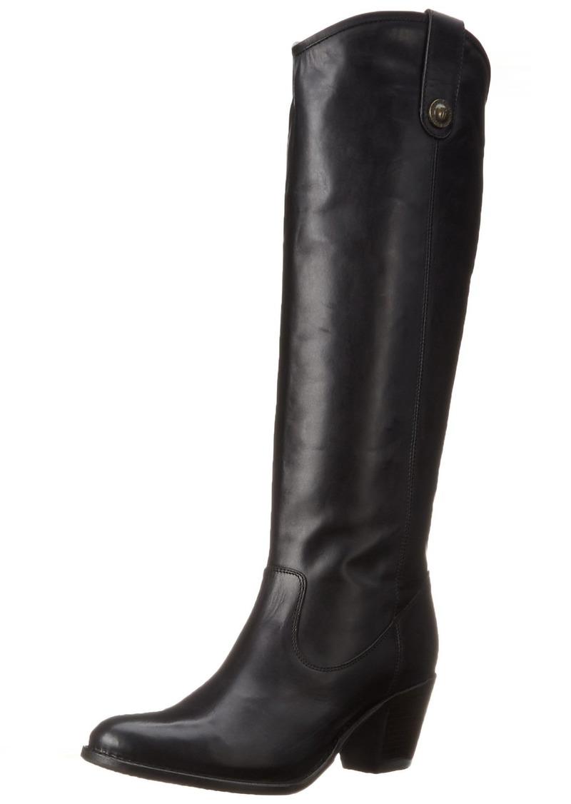 FRYE Women's Jackie Button Boot Black Wide Calf