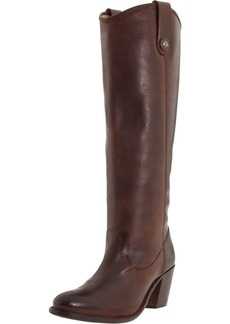 FRYE Women's Jackie Button Boot Chocolate Soft Vintage Leather