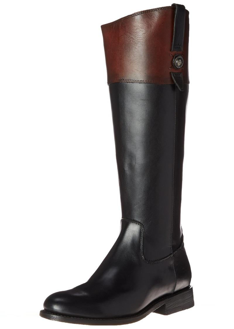 FRYE Women's Jayden Button Tall-SMVLE Riding Boot Black/Multi  M US