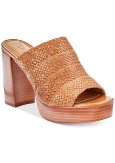 Frye Women's Katie Woven Block-Heel Slides Women's Shoes