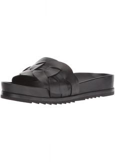 Frye Women's Lily Leather Ring Slide Sneaker   M US