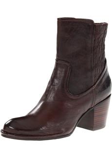FRYE Women's Lucinda Scrunch Short Boot Dark Brown Antique Soft  M US