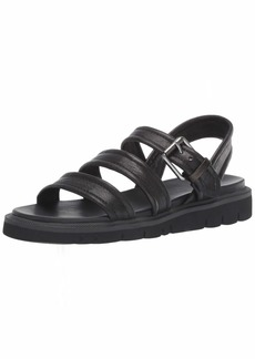 FRYE Women's Marlette Strappy Sandal Flat black  M US