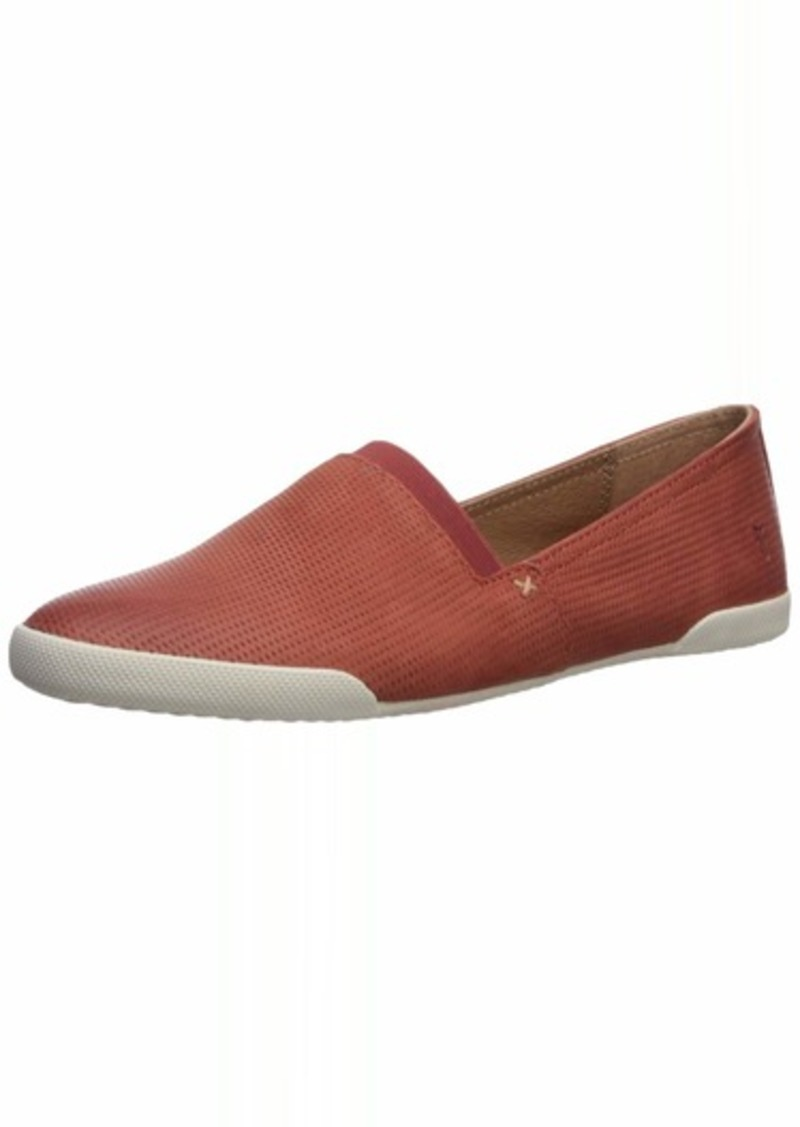 Frye Women's Melanie Diamond Emboss Sneaker Brick red  M US