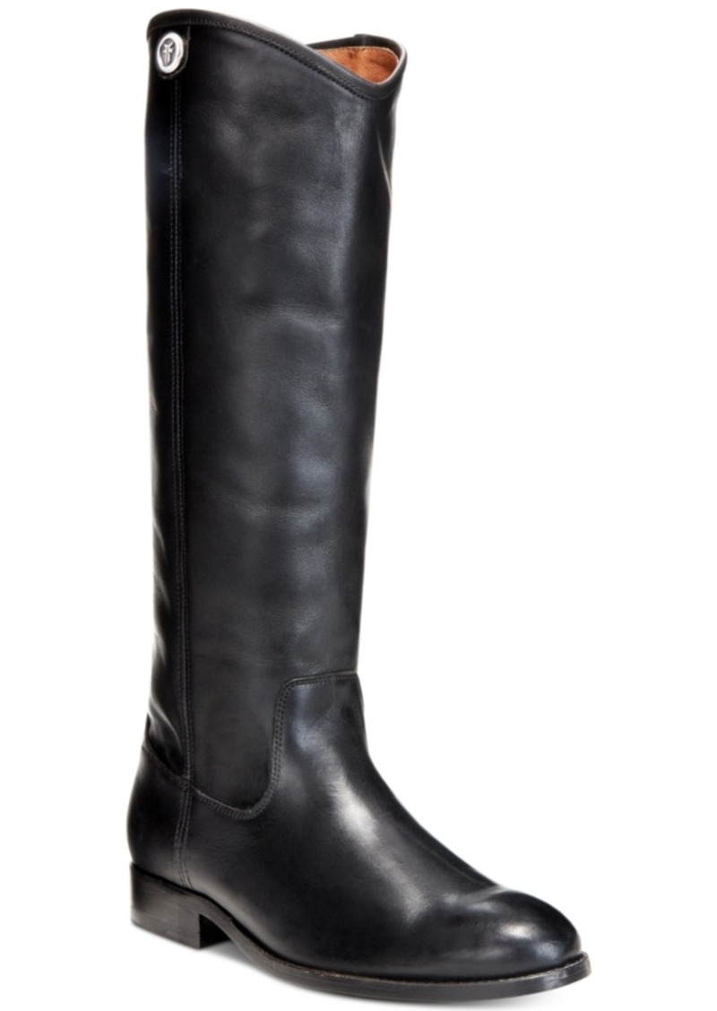 Frye Women's Melissa Button 2 Wide-Calf Tall Leather Boots Women's Shoes