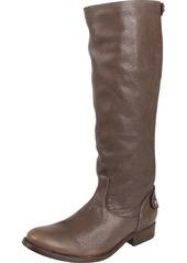 FRYE Women's Melissa Button Back Zip Knee-High Boot Grey Antique Soft Full Grain