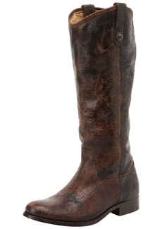 FRYE Women's Melissa Button  Boot Chocolate Glazed Vintage Leather