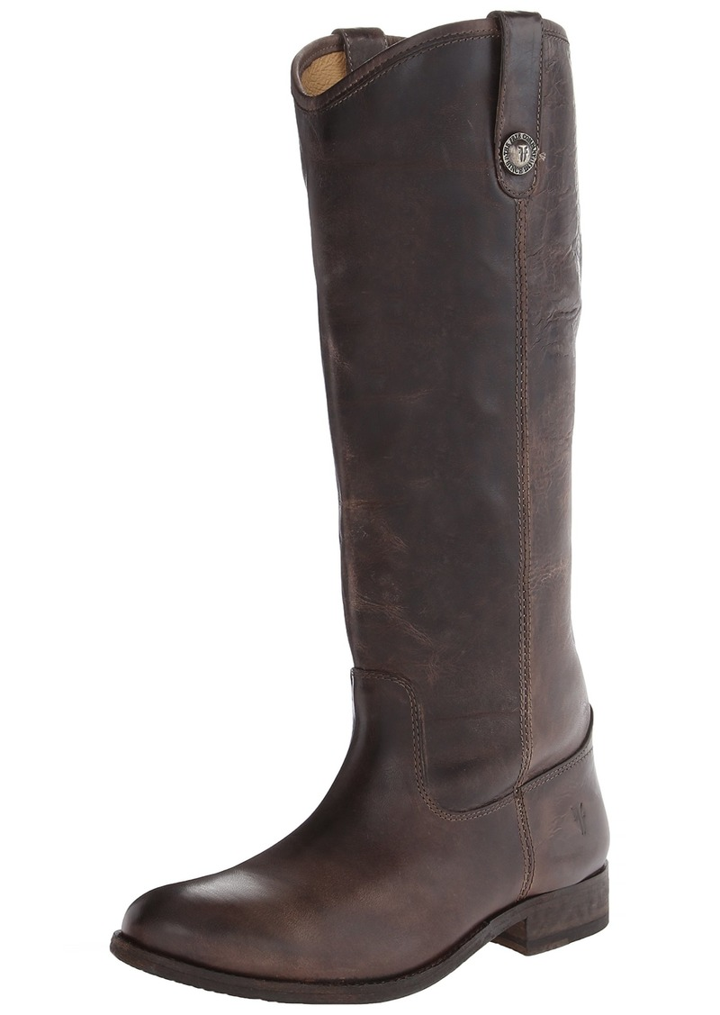 FRYE Women's Melissa Button Boot Slate Washed Antique Pull-Up  M US