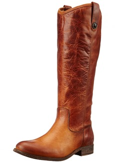 FRYE Women's Melissa Button-WAPU Riding Boot  Cognac Extended