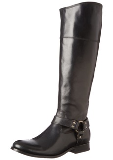 Frye Women's Melissa Harness Inside Zip Black Soft Vintage Leather Boot  B - Medium