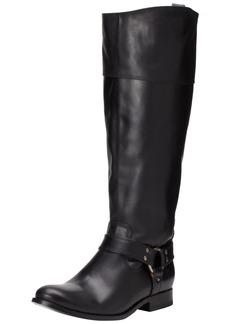 FRYE Women's Melissa Harness InSide-Zip Boot Black Smooth Vintage Leather Wide Calf