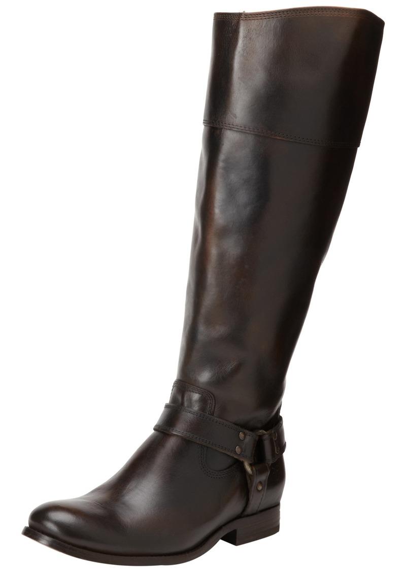 FRYE Women's Melissa Harness InSide-Zip Boot Dark Brown Vintage Brush Off