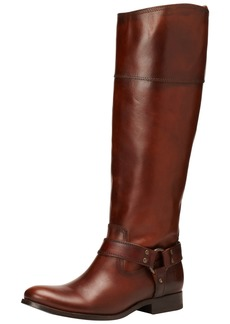 FRYE Women's Melissa Harness InSide-Zip Boot Redwood Smooth Vintage Leather Wide Calf  M US