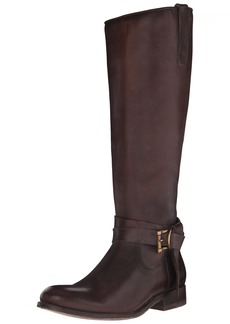 FRYE Women's Melissa Knotted Tall Riding Boot  Dark Brown