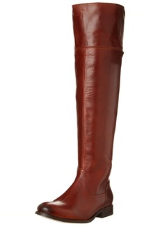 FRYE Women's Melissa Over the Knee Boot Cognac Smooth Vintage Leather