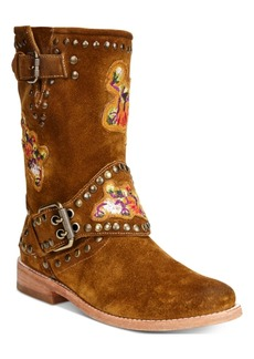 Frye Women's Nat Flower Engineer Boots Women's Shoes