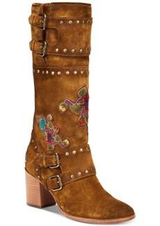 Frye Women's Nova Flower Riding Boots Women's Shoes