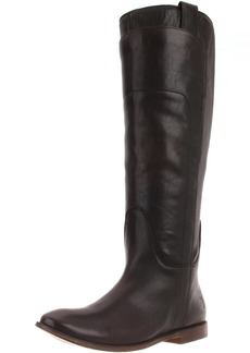 FRYE Women's Paige Tall Riding Boot Dark Brown Calf Shine