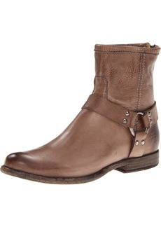 FRYE Women's Phillip Harness Ankle Boot Grey Soft Vintage Leather