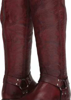 FRYE Women's Phillip Harness Tall Knee High Boot Burnt red  M US