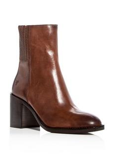 Frye Women's Pia Leather High Block Heel Booties