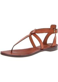 FRYE Women's Rachel T-Strap Sandal Cognac Veg/Tan