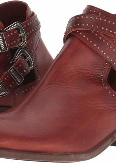 FRYE Women's RAY Deco Western Shootie Ankle Boot red Clay  M US