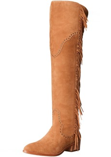 FRYE Women's Ray Fringe OTK Slouch Boot   M US