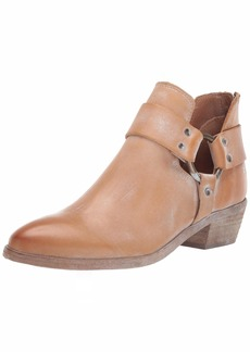 FRYE Women's RAY Harness Back Zip Ankle Boot tan  M US