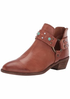 FRYE Women's RAY Stone Harness Back Zip Ankle Boot   M US