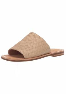 FRYE Women's Robin Woven Slide Flat Sandal cream  M US
