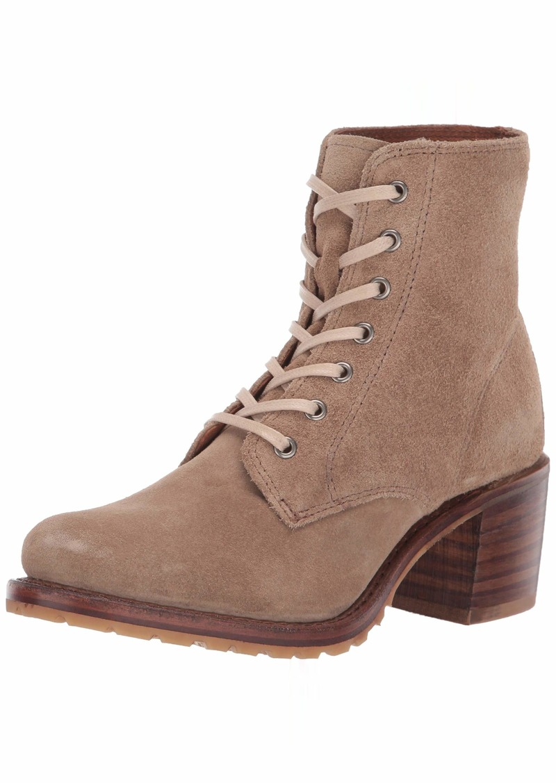 FRYE Women's Sabrina 6G Lace Up Combat Boot beige  M US