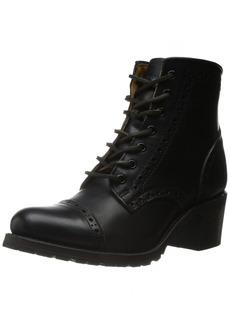 FRYE Women's Sabrina Brogue-VPU Combat Boot