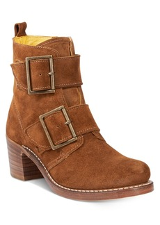 Frye Women's Sabrina Double Buckle Moto Booties Women's Shoes