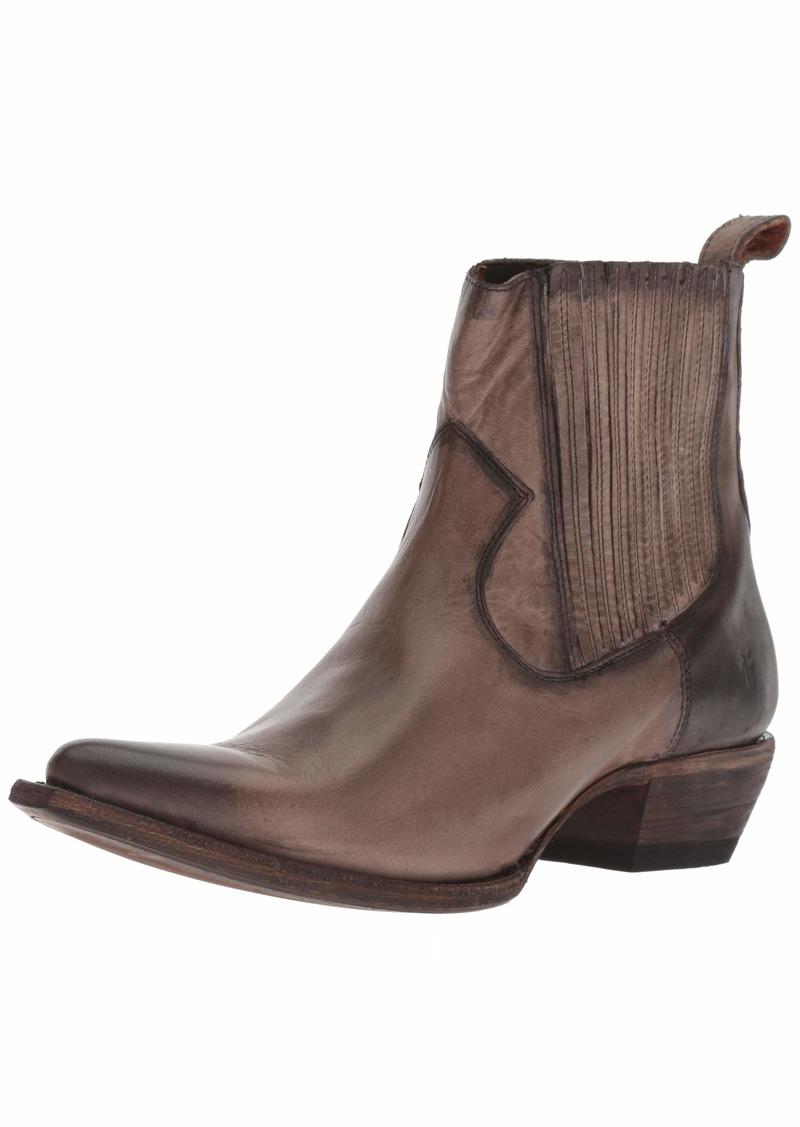 FRYE Women's Sacha Chelsea Western Boot stone  M US