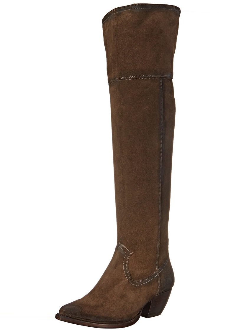 FRYE Women's Sacha Over The Knee Western Boot  Fatigue