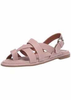 FRYE Women's Tait Softy Criss Cross Flat Sandal   M US