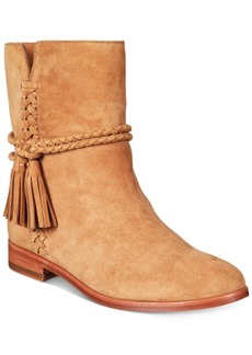 Frye Women's Tina Whipstitch Tassel Booties Women's Shoes