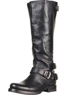 FRYE Women's Veronica Back-Zip Boot Black Soft Vintage Leather  M US