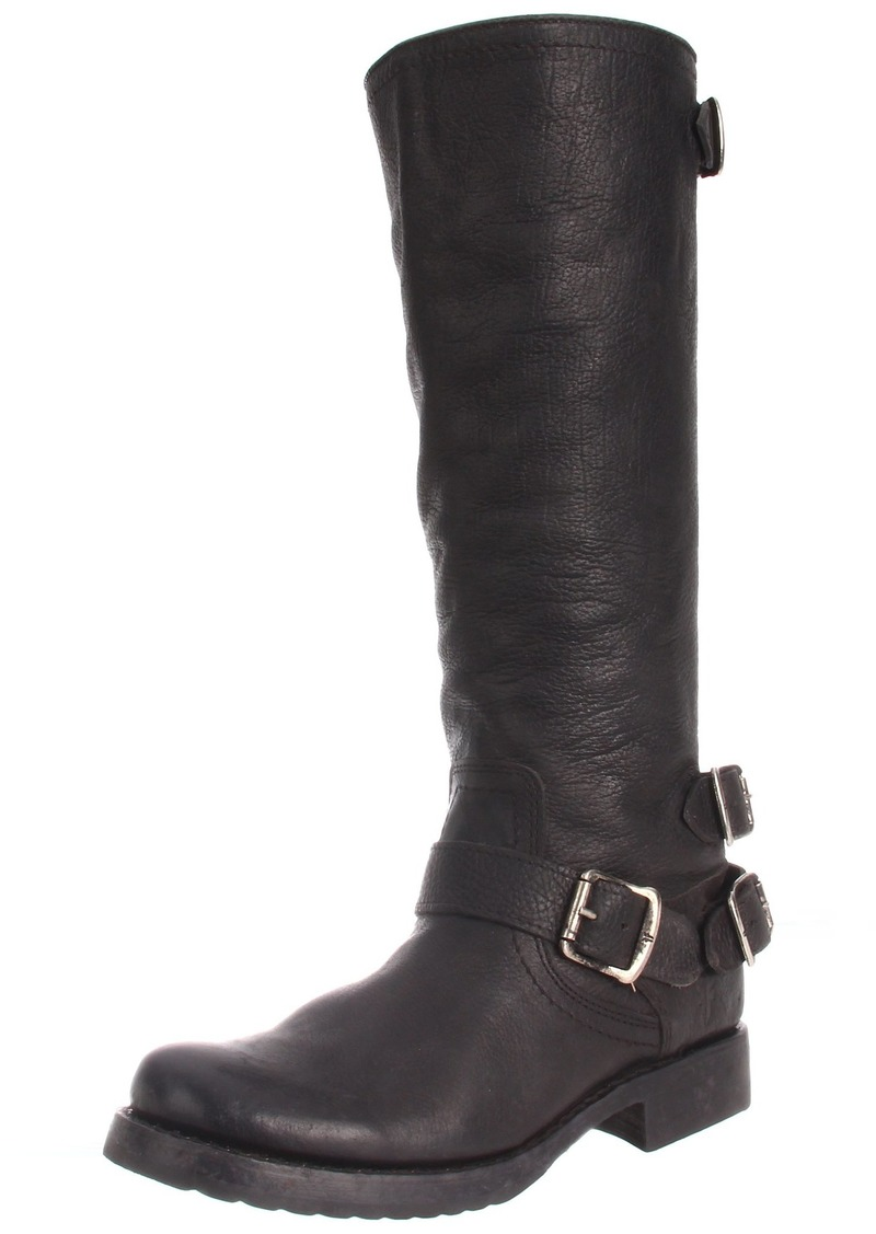 FRYE Women's Veronica Back-Zip Boot Black Stone Antique