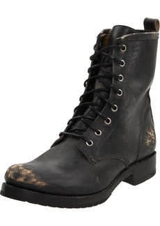 FRYE Women's Veronica Combat Boot Black Stone Washed