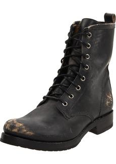 FRYE Women's Veronica Combat Boot Black Stone Washed