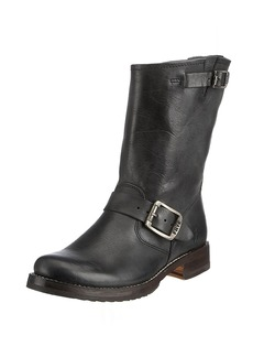 FRYE Women's Veronica Short Boot Black Tumbled Full Grain  US