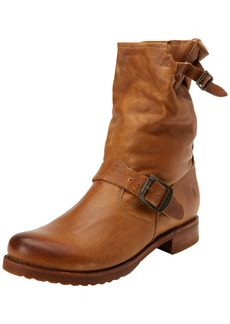 FRYE Women's Veronica Short Boot Camel Soft Vintage Leather