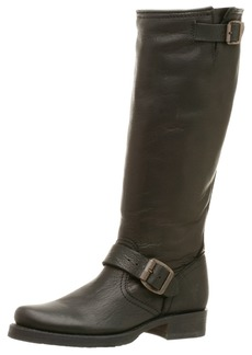 FRYE Women's Veronica Slouch Boot Black Tumbled Full Grain Leather