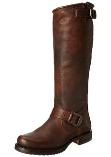 FRYE Women's Veronica Slouch Boot Dark Brown Calf Shine Vintage Leather 10 M US