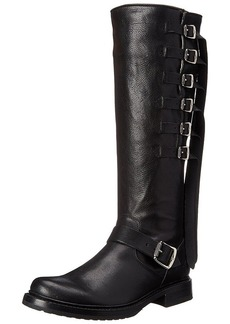 FRYE Women's Veronica Strap Tall-TUFG Engineer Boot  Black