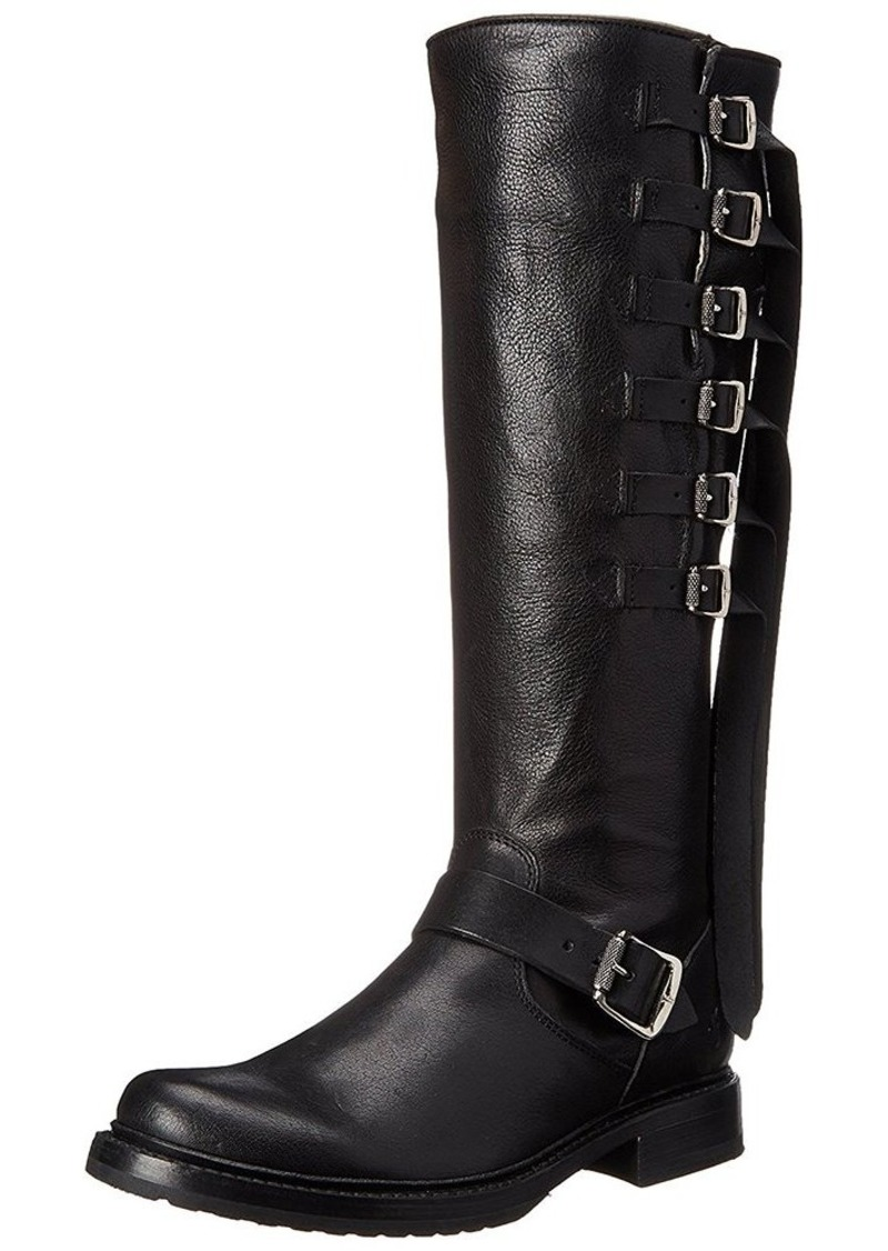FRYE Women's Veronica Strap Tall-TUFG Engineer Boot  Black