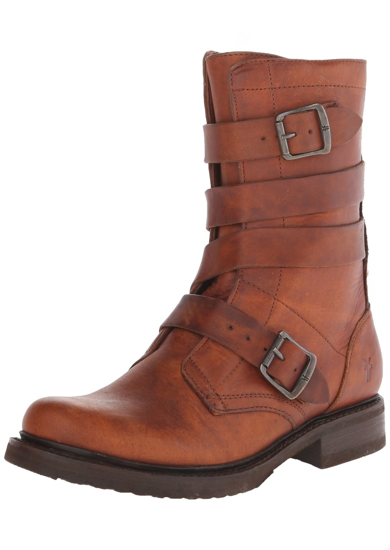 FRYE Women's Veronica Tanker-WSHOVN Engineer Boot  Cognac